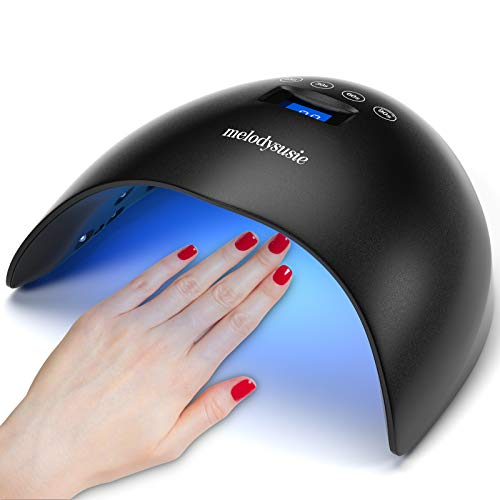 MelodySusie UV LED Nail Lamp 48W Nail Dryer for Gel Nail Polish, Professional Nail Curing Light for Manicure & Pedicure with LG Chips, Touch Control UV Lamp with Sensor 4 Timer Setting, Upgrade