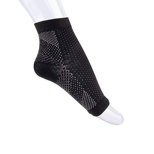 N /A QJYAS Tobillera de Soporte Fascitis Plantar Ideal Compresión del pie Calcetín Mangas para el Alivio del Dolor de la Artritis y Adecuado para el Deporte El Tobillo apoya a Hombres y Mujeres