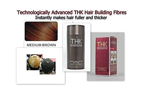 Thk de construction de cheveux Fibres Medium Marron 25 g Naturel perte de cheveux Concealer instantanément des cheveux meilleure et plus épais