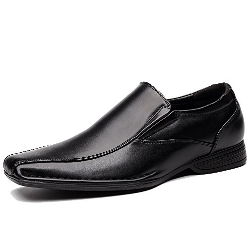 OUOUVALLEY Classic Formal Oxfords Slip On Leather Lining Modern Loafer Shoes OUOU-004 (15 D(M) US, Black)