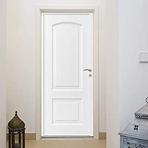 murimage Papel Pintado Hoja de la Puerta 86 x 200 cm Incluye Pegamento Pasillo Entrada blanco Efecto 3D Baño Fotomurales Pared