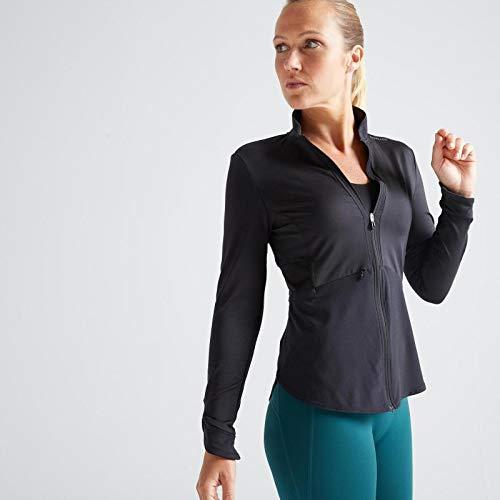 Domyos 500 Women's Fitness Cardio Training Jacket - Black
