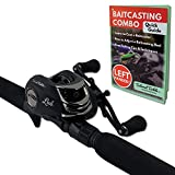 Tailored Tackle (Left Handed Bass Fishing Rod Reel Baitcasting Combo 7 Ft 2 -Piece | Casting Rods...