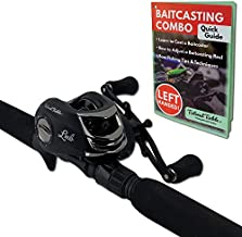 Tailored Tackle (Left Handed Bass Fishing Rod Reel Baitcasting Combo 7 Ft 2 -Piece   Casting Rods Power: Med. Heavy Fast Action   7 BB Baitcast Gear Ratio - 6.3:1   Baitcaster Pole