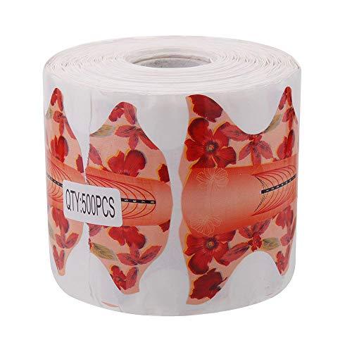 Nagel papier sticker nagelverzorging hulpmiddel is voor het aanbrengen van nagels u helpen om de gewenste lengte & shape500pcs krijgen,Red