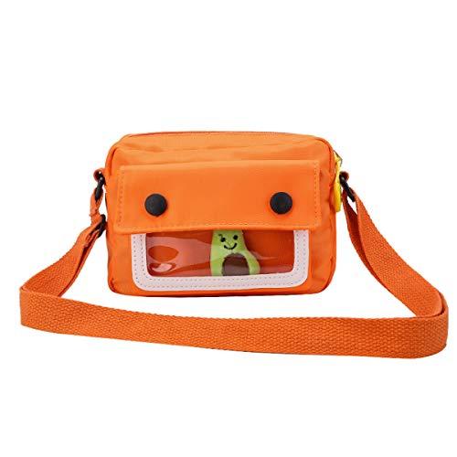 Umhängetasche für Frauen, Nylon Schultertasche Reisetasche Handy Geldbörse Transparente Tasche Handtasche mit verstellbarem Riemen