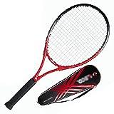 Tennis Racket Raqueta de Tenis de 27 Pulgadas Raqueta de Tenis Individual para Principiantes Raqueta de Tenis íntegramente de Carbono Dispositivo de Entrenamiento de Tenis