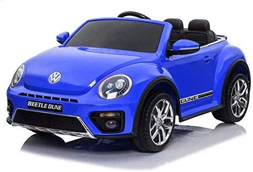 MEDIA WAVE store Voiture électrique biplace LT893 pour Enfants Volkswagen Beetle 12V