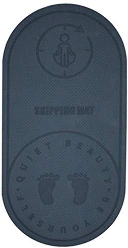 Mosako - Esterilla de yoga antideslizante de doble cara para hacer ejercicio, cuerda de saltar, alfombra de suelo, absorción de golpes, alfombra de baile, ecológica, 1 unidad (2#)