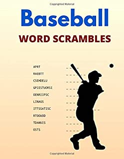 Baseball Word Scrambles: Puzzle Book for Fans and Coaches with Answers