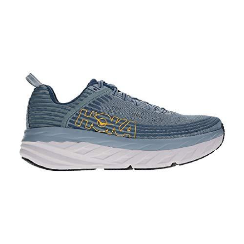 Men's Bondi 6 Running Shoes, Lead/Majolica Blue, 9 US