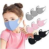 12shage Paquet De 10 𝐌𝐀𝐒𝐐𝐔𝐄 Pour Enfants En Tissu Lavable - Protection Extérieure à 4 Couleurs,Respirant Et Réutilisable