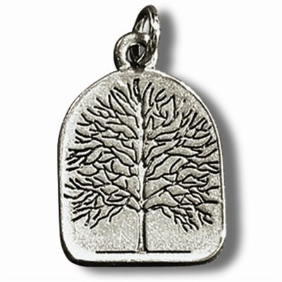 Preisvergleich Produktbild Zinn-Amulett Lebensbaum mit Achat-Schutzstein und Erklärungskarte