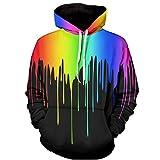 Colygamala Men's 3D Printed Rainbow Watercolor Paint Long Sleeve Hoodie Pullover Sweatshirt 20161216FL01-1-S