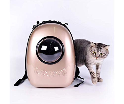 YQ WHJB Bolsa para Gatos en Oro Rosa Bolsa para Mascotas Bolsa para computadora portátil Bolsa de Hombro Mochila para Perros Bolsa de Espacio Gato Espacio de Almacenamiento al Aire Libre