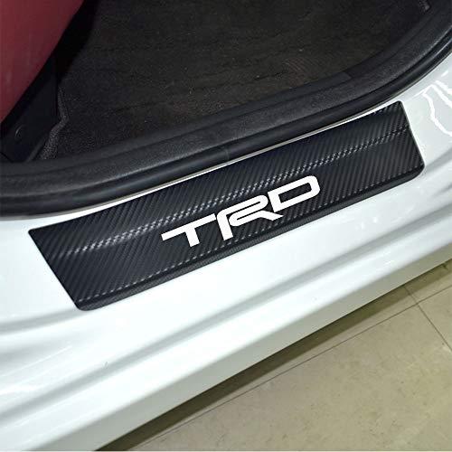 4pcs Door Stickers Carbon Fiber Car Scuff Plate Sticker TRD Vinyl Decal Sticker for Toyota Camry Corolla RAV4 Highlander CR-V C-HR Fortuner 4Runner Reiz