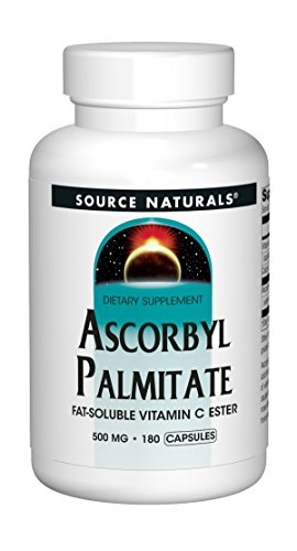 Source Naturals Ascorbyl Palmitate 500mg Fat-Soluble Vitamin C Ester Supplement - 180 Capsules