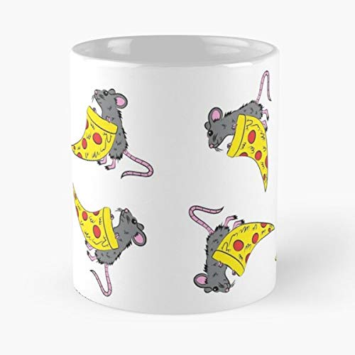 Animal Food Animals Funny Rat Cute Pizza Best 11 Ounce Ceramic Coffee Mug