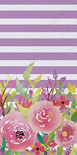 Sticker Superb Súper Absorbente Flor Toallas de Playa Suave Poliéster Terciopelo Viajar Deportes Yoga Nadando Toalla Chica Chico Hombre Mujer Verano (Morado, 75 x 150 cm)