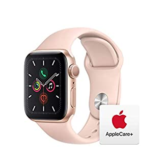Apple Watch Series 5 (GPS, 40mm) - Gold Aluminum Case with Pink Sport Band with AppleCare+ Bundle (B081KKVJYQ) | Amazon price tracker / tracking, Amazon price history charts, Amazon price watches, Amazon price drop alerts