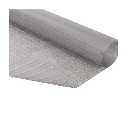 Resilia Floor Protector for Deep Pile Carpet, Clear, Easy-to-Clean Plastic Mat, 48 Inches x 25 Feet, for Hallway, Living or Dining Room Use