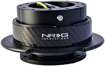 NRG Innovations SRK-250CF Quick Release Kit (Black/CF Ring)