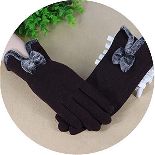 Small-shop Winter Gloves Damen Winterhandschuhe Kaschmir dünne Handgelenk Handschuhe Warm Kaschmir Fäustlinge Frauen Handschuhe, Damen, G032 Coffee, Einheitsgröße