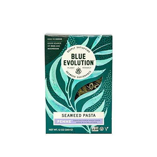 Blue Evolution Seaweed Pasta, Nourishing Superfood Penne, Whole Food Vegan Pasta, Rich in Antioxidants 12 OZ (6 Pack)