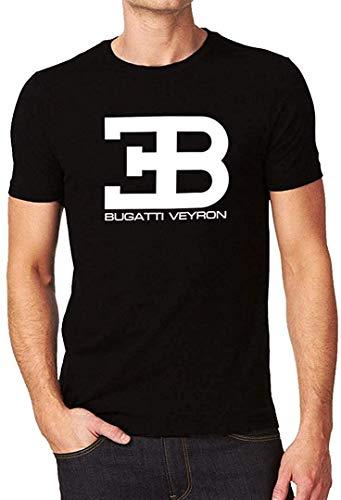 Bugatti Veyron Herren-T-Shirt, kurzärmelig, mit Logo, Schwarz Gr. XXL, Schwarz