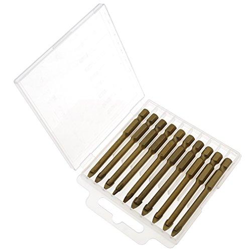 10pcs 6mm Aluminum Drills Bits For Spear Head Porcelain Ceramic Glass Tiles