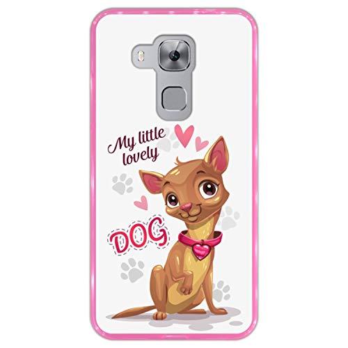 Funda Rosa para [ Huawei Nova Plus - Huawei G9 Plus ] diseño [ Perrito Chihuahua Lindo - My Little Lovely Dog ] Carcasa Silicona Flexible TPU
