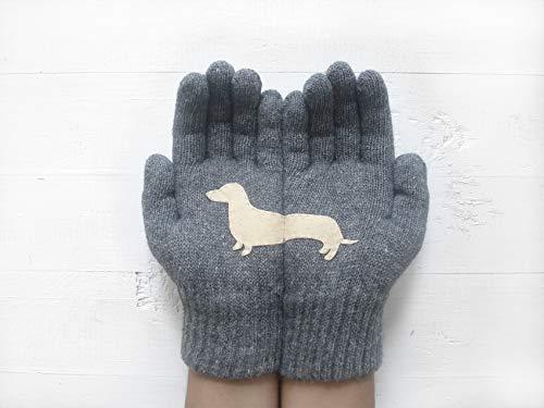 Dachshund Gift, Winter Gloves