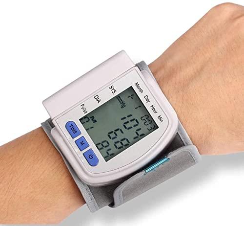Handgelenk Blutdruckmessgerät für Zuhause, LCD-Handgelenk BP Blutdruckmessgerät Pulsrate Fitness Blutdruck Tonometer Manschette Automatische Gesundheitsmonitor, groß