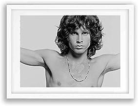 Box Prints Jim Morrison The Doors Cartel de impresión de música en Blanco y Negro enmarcada Imagen de Arte