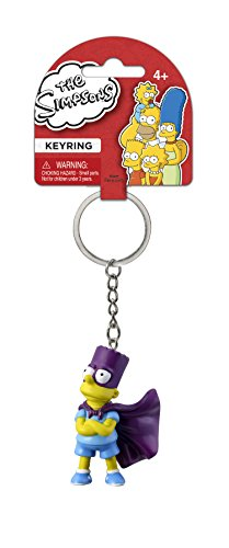 The Simpsons Bart with Cape PVC Figural Keychain