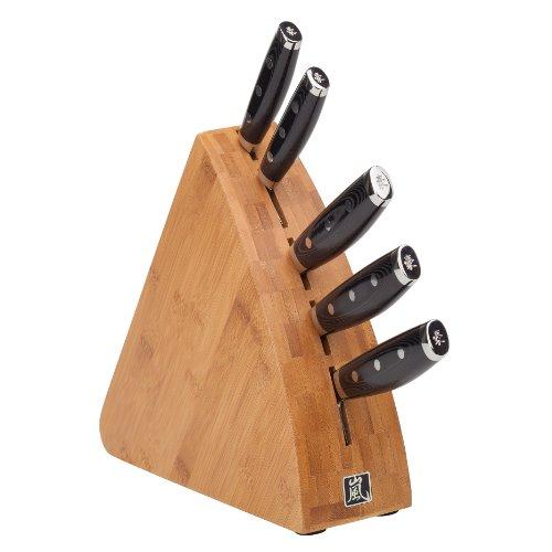 Yaxell Tsuchimon 6-Piece Block Knife Set