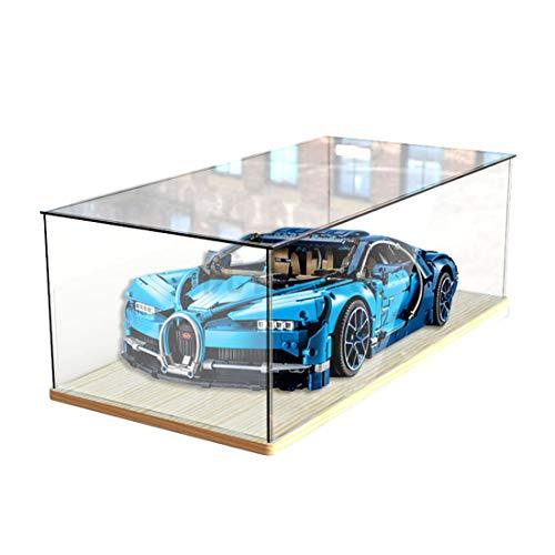 Riva776Yale - Scatola da esposizione in acrilico per Lego Buggati Veyron 42083, antipolvere scatola in acrilico per display (senza kit modello)