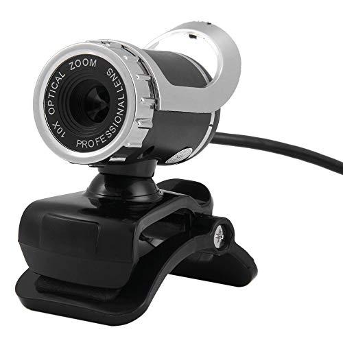 Cytech Webcam HD USB 2.0 12M Pixels, 360 Grado Ajustable con micrófono Integrado USB cámara para Escritorio PC portátil Skype Chatear Video Conferencia (Negro)