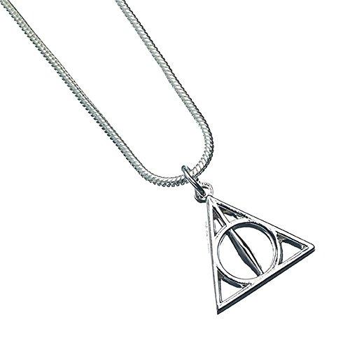 Orecchini con simbolo dei Doni della Morte, gioielli su licenza ufficiale della saga di Harry Potter.