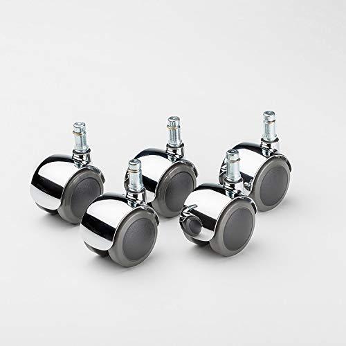 Swissmobilia Set Vitra Lenkrolle für Eames-Produktreihe, weiche Lauffläche, 5 Stück