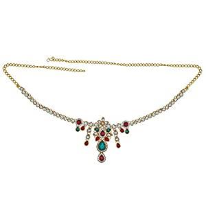 Memoir Brass Gold Plated,Kundan CZ, Ethnic Kamarband Traditional Waistbelt Wedding Jewellery Women