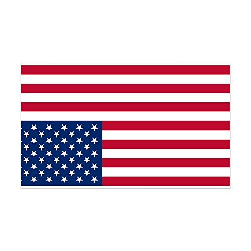 CafePress Inverted American Flag (Distress Signal) Sticker (Rectangle Bumper Sticker Car Decal