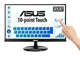 ASUS VT229H 21.5' Monitor, FHD, 1920 x 1080, IPS, 10-point Touch Monitor, HDMI, Flicker Free, Filtro Luce Blu, Certificazione TUV