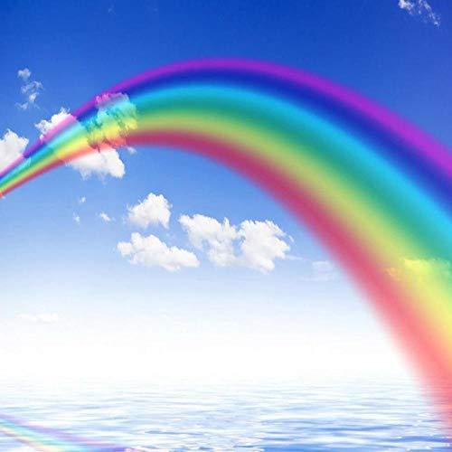 Fototapete Fototapete 3D Traum Regenbogen Blauer Himmel Weiße Wolke Deckengemälde Cartoon Kinder Schlafzimmer Hintergrund Wand 200X140Cm