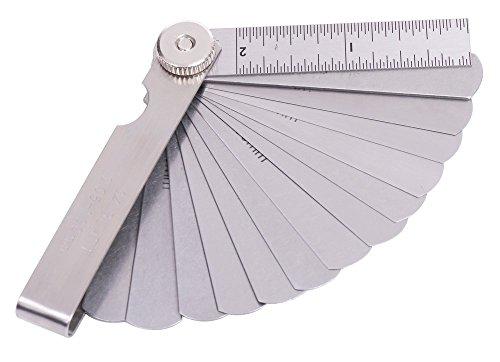 ステンレス シックネス ゲージ 隙間 ゲージ 厚さ 薄さ 測り 13枚 0.05mm-1.0mm L 80mm