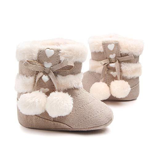 Gavena Botitas y Botas de Bebés Unisexo Zapatos de Invierno Cálido para Niño Niñas (18-24 Meses, Beige