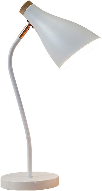 High-quality table lamp Tischlampe - Nordic Reading Studie Tischlampe, LED Augenschutz Büro Schreibtisch College Schlafsaal Schlafzimmer Einfache Nachttischlampe (LED-9W)