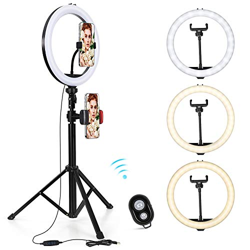 UNIFUN 10' Selfie Ring Light with Tripod Stand & Phone Holder for Live...