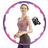 TTMOW Hula Hoop zur Gewichtsreduktion, Hula Hoop Reifen für Fitness, 8 Abschnitt Abnehmbares...
