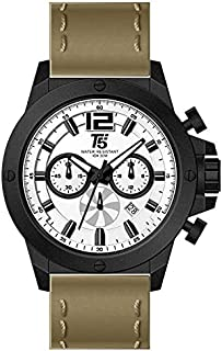 T5 H3488G-B Round Leather Watch for Men